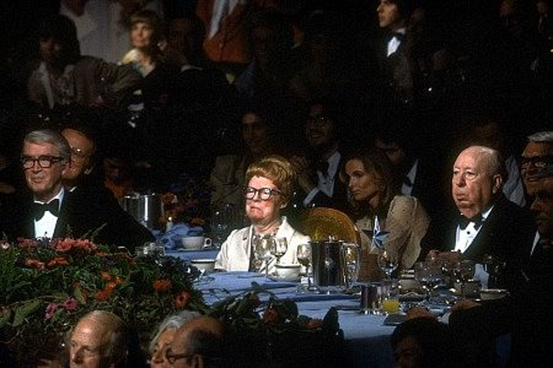Hitchcock y Reville, durante la ceremonia de los premios AFI de 1979