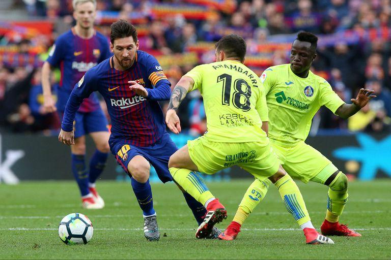 Con Messi como titular, Barcelona igualó ante Getafe en el Camp Nou