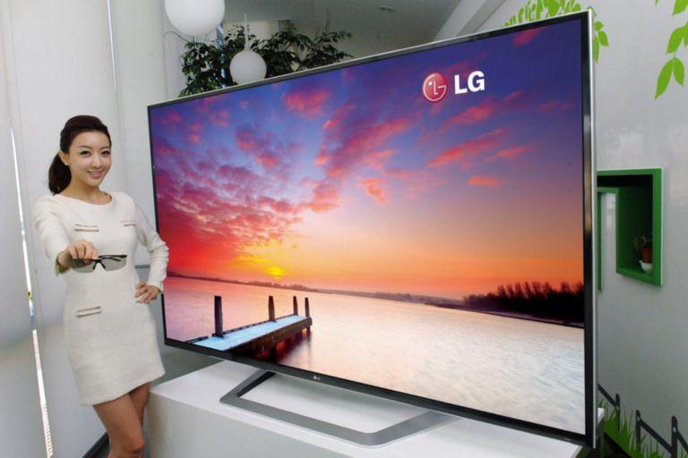 Una TV de ultra alta definición con una pantalla de 84 pulgadas, presentada en enero de 2012