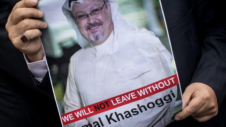 La desaparición de Jamal Khashoggi  generó varias protestas en contra de las autoridades sauditas.