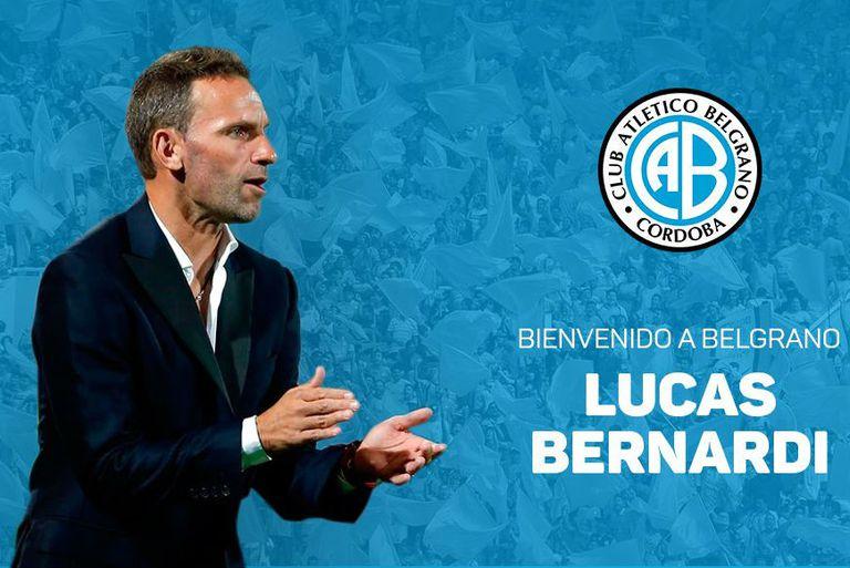 Lucas Bernardi es el nuevo DT de Belgrano de Córdoba