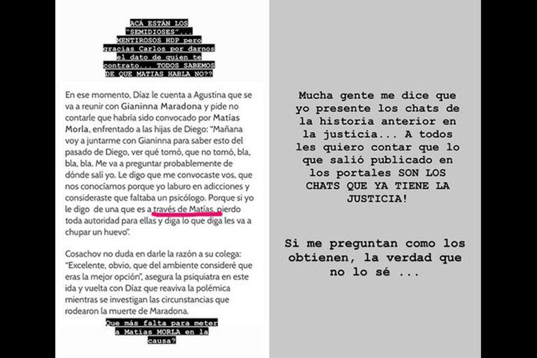 Una nueva charla entre los profesionales que cuidaron la salud de Diego hizo estallar de furia a Dalma Maradona