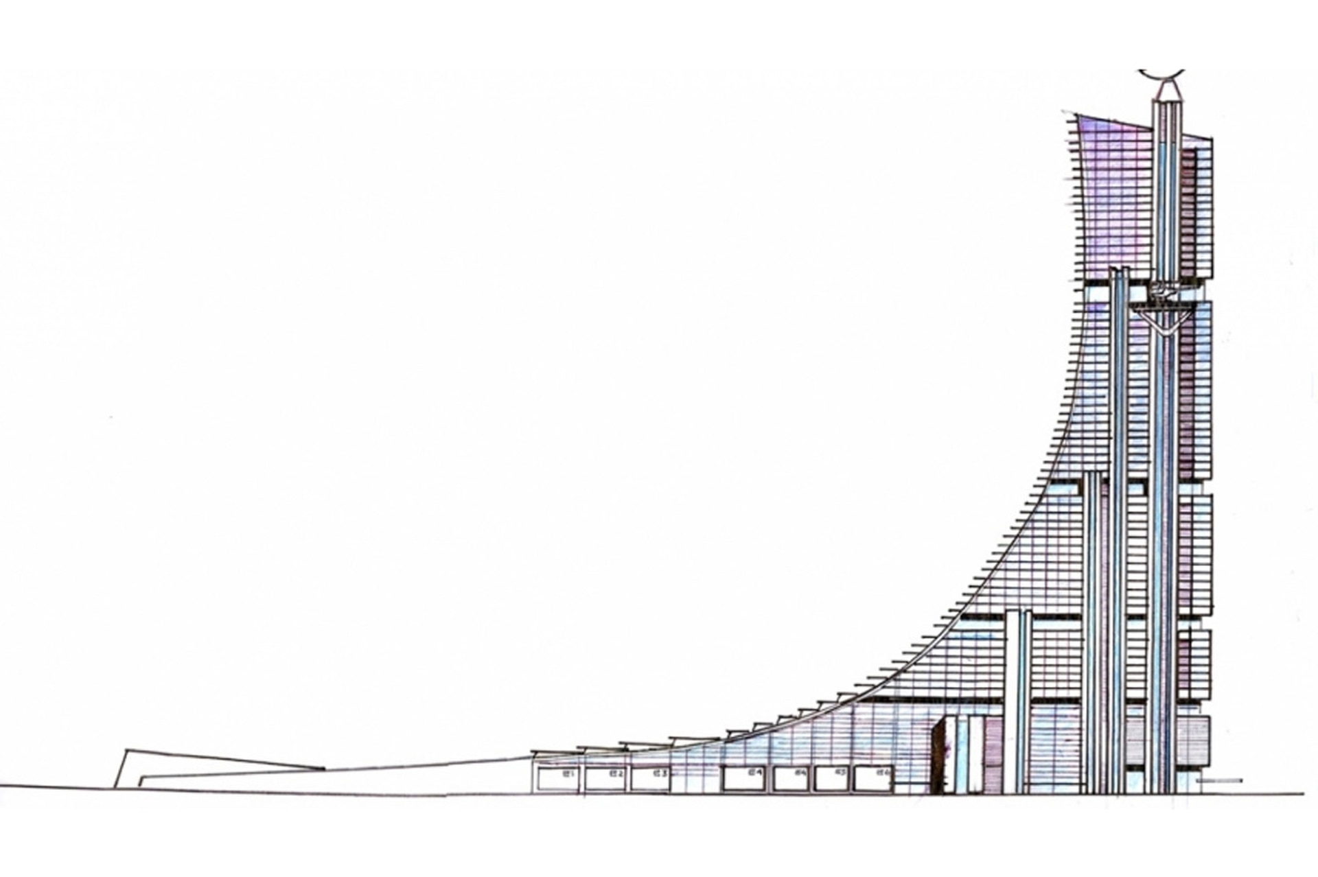 """Isla Demarchi: la torre más alta de Latinoamérica y que albergaría al """"Hollywood argentino"""" que no fue"""