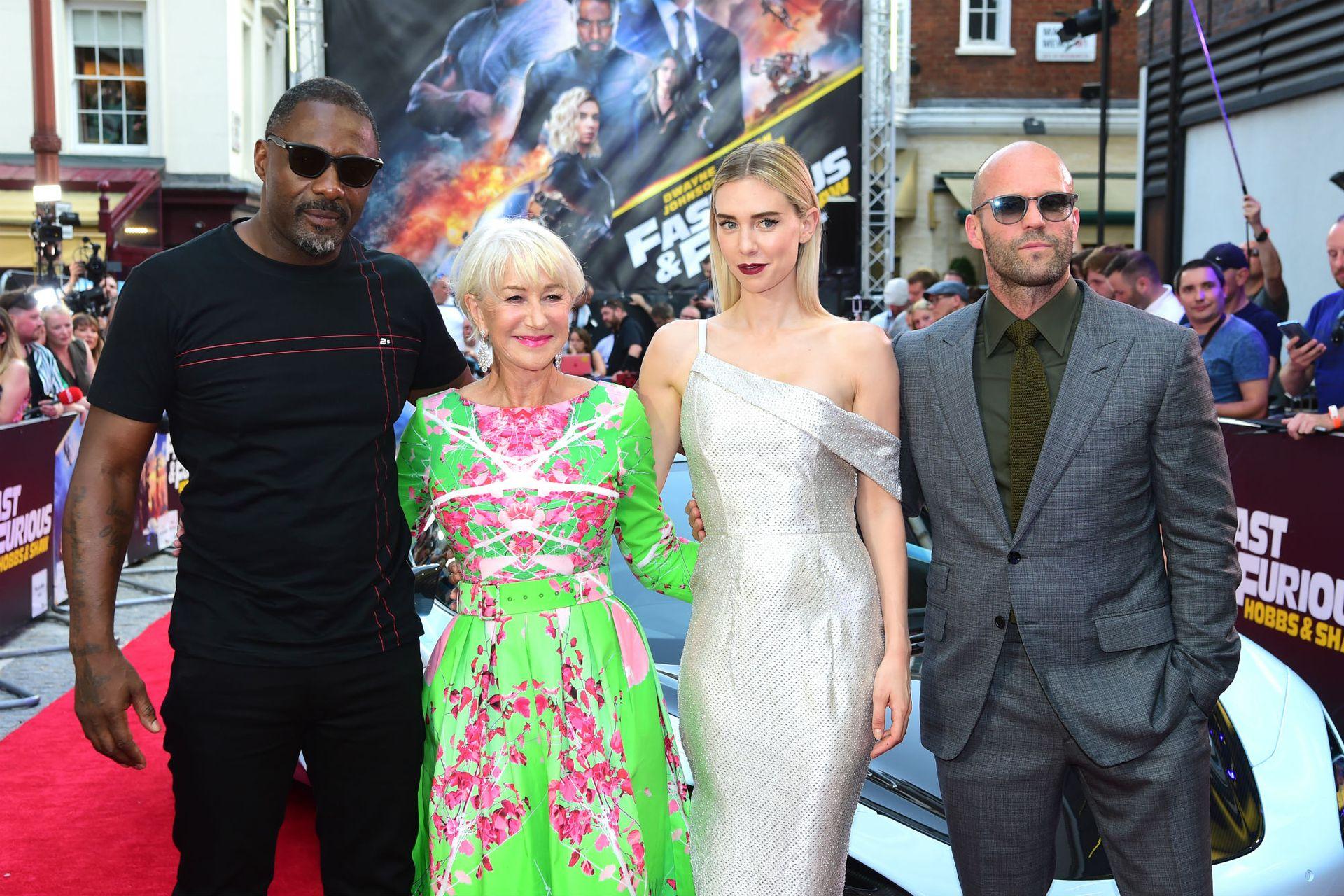 Idris Elba, Helen Mirren, Vanessa Kirby y Jason Statham