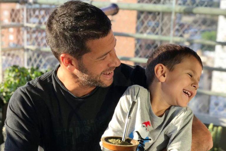 La divertida escena de Seba Domínguez con su hijo de 6 años