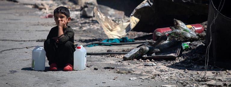 Emergencia. Un incendio arrasó el campo de refugiados más grande de Europa