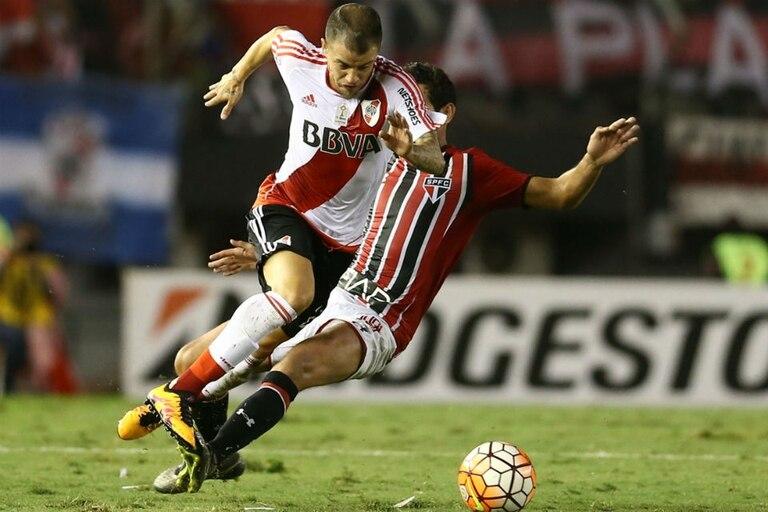 River puede conseguir la clasificación esta noche, en Brasil, contra San Pablo