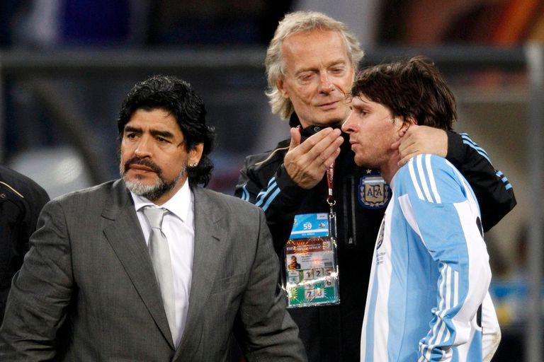 Cuando Maradona le enseñó a Messi a patear tiros libres:la anécdota de Signorini