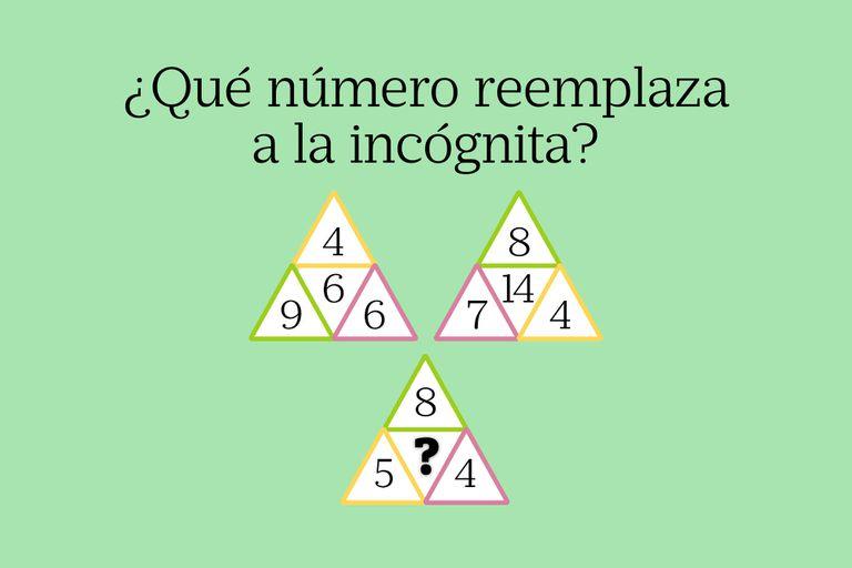 Para resolverlo deberás descubrir qué ocurre en el interior de los triángulos