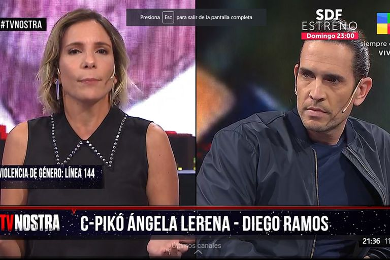 TV Nostra: el inesperado cruce entre Diego Ramos y Ángela Lerena