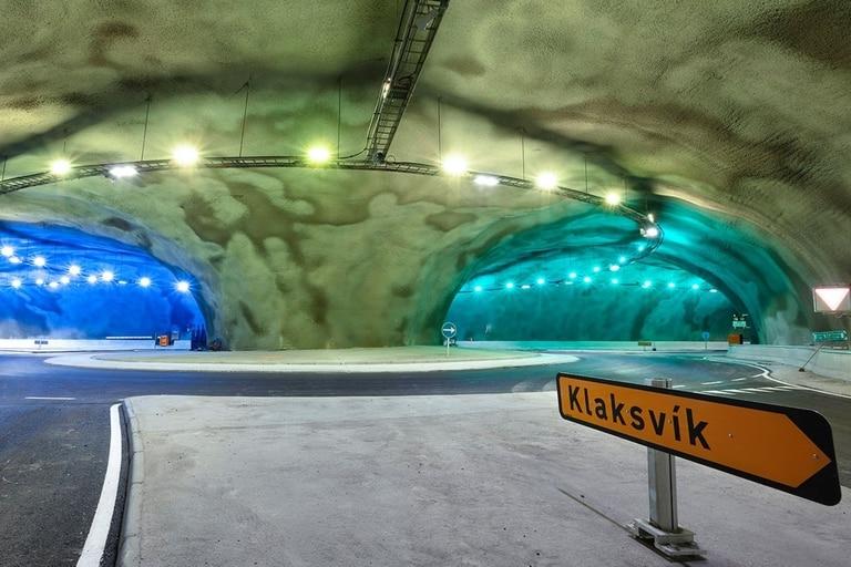 Las Islas Feroe están a punto de inaugurar la primera rotonda submarina del mundo, situada a 180 metros bajo las aguas del Océano Atlántico