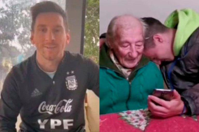 El capitán de la selección argentina se enteró de la historia de Hernán, un abuelo argentino de 100 años que lo admira y que registra de todos sus goles a mano en un cuaderno, y decidió enviarle un emotivo saludo que conmocionó a toda su familia