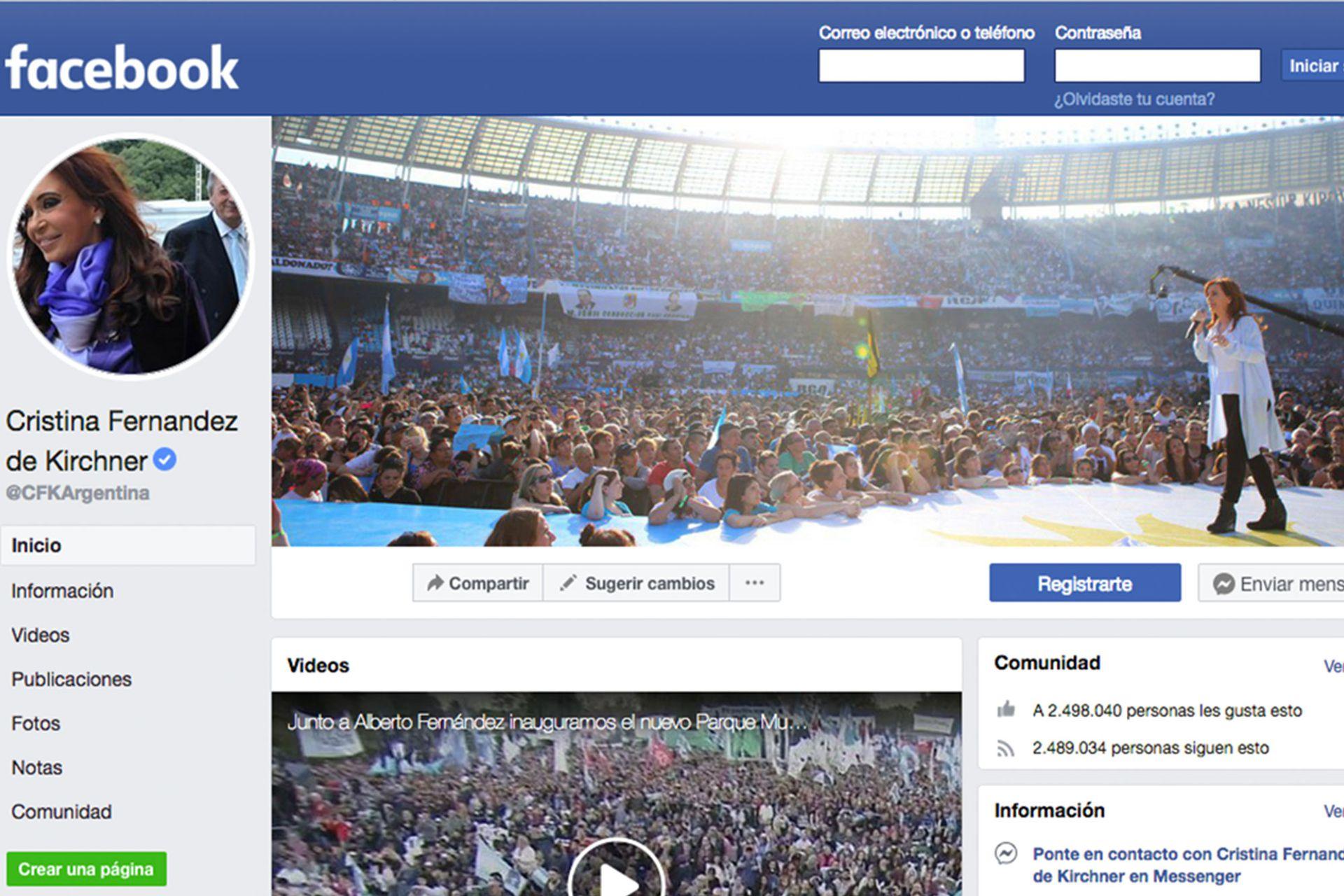 Después de anunciar su candidatura a vicepresidenta, la exmandataria -con 2,5 millones de seguidores- sumó otros 8.500 en una semana.
