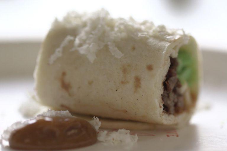 Burrito de chocolate, una de las creaciones más originales de Watson. Foto gentileza de IBM