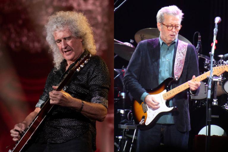 """""""Amo a Eric Clapton, él es mi héroe, pero tiene puntos de vista muy diferentes a los míos en muchos sentidos"""", dijo Brian May en una entrevista"""