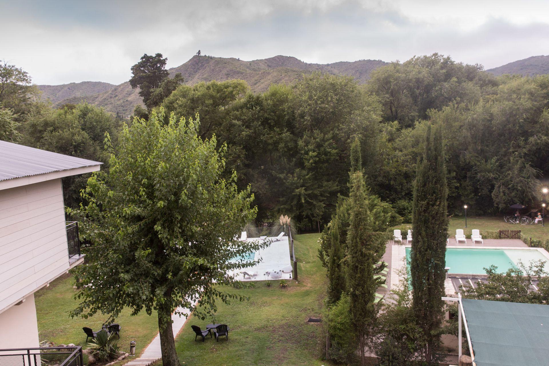Los jardines del hotel.