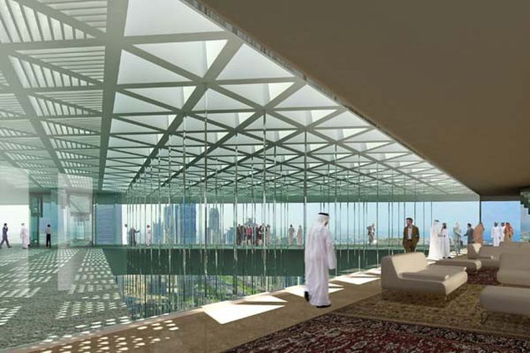 Interior del hotel proyectado en Dubai por B4FS
