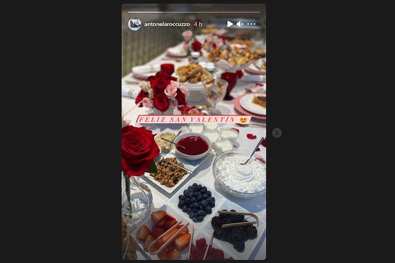 El romántico desayuno de Antonela Rocuzzo y Lionel Messi por San Valentín