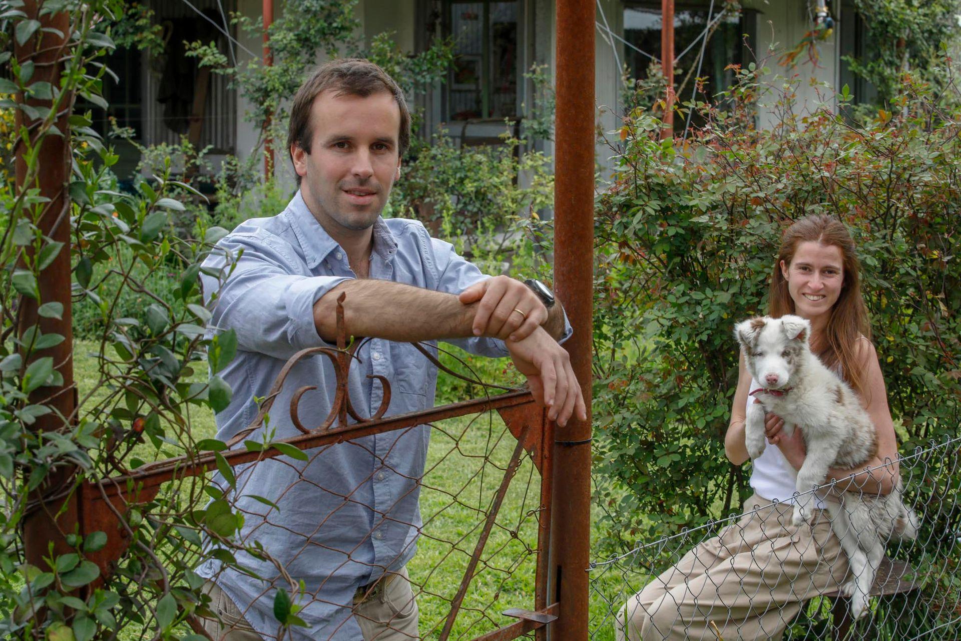 Martin Caputo y su mujer Felicitas de Achaval se mudaron a San Antonio de Areco