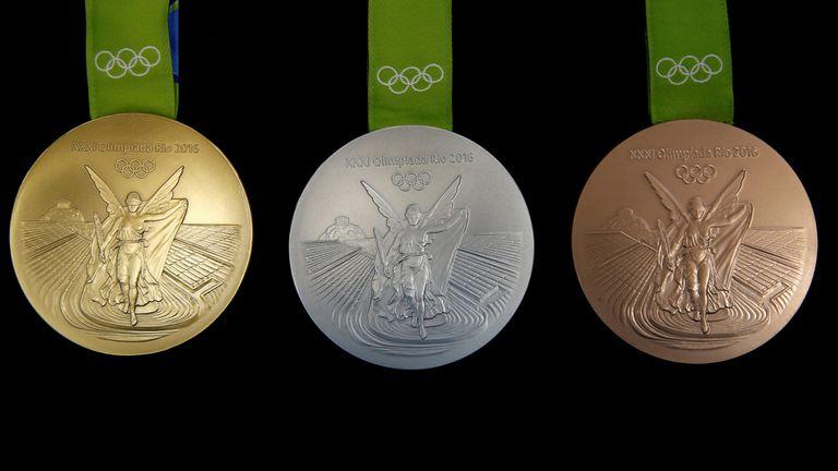 Las medallas de Río; las de oro están hechas casi en su totalidad de plata