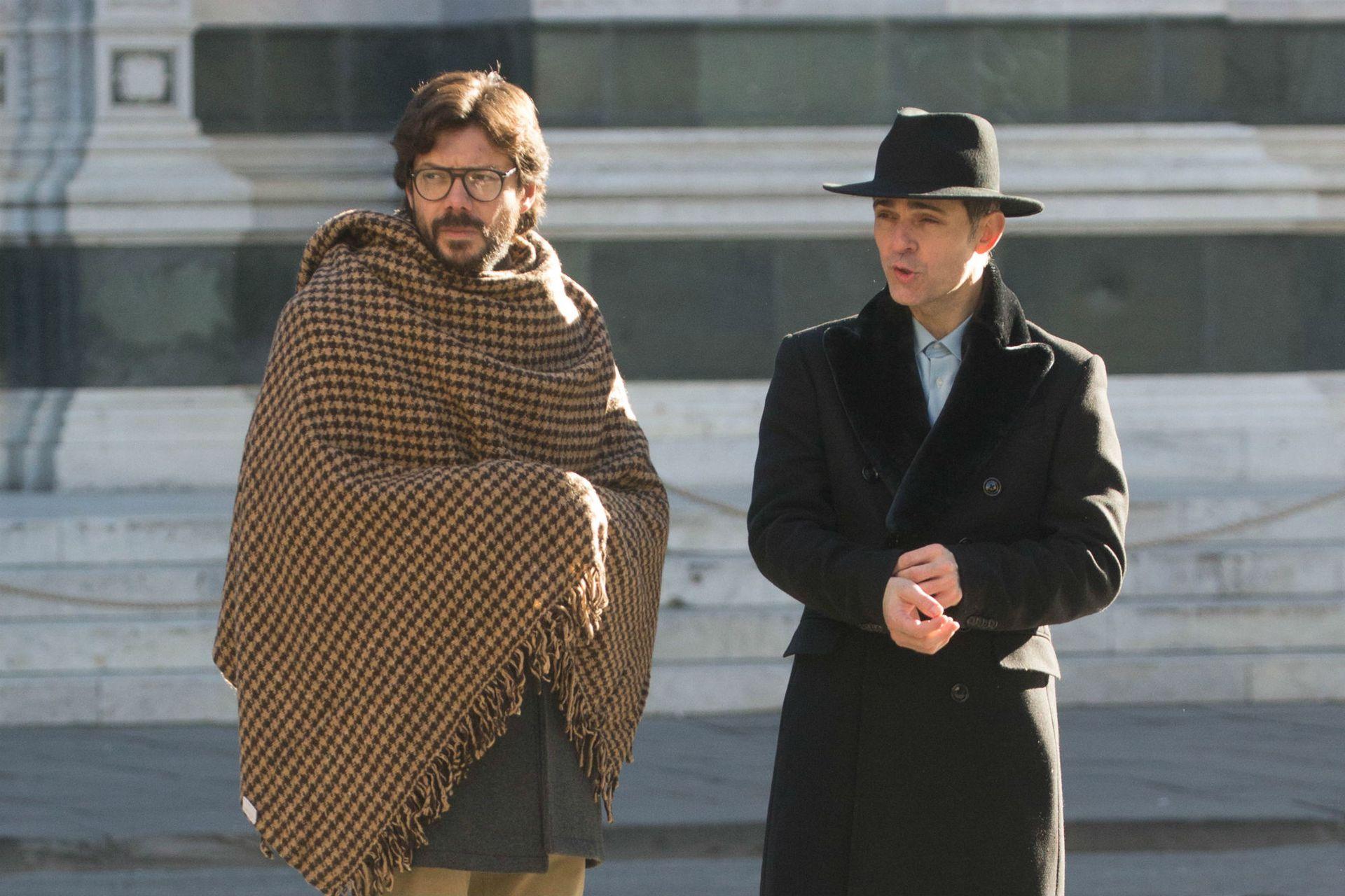 Álvaro Morte y Pedro Alonso grabaron en Florencia parte de la nueva entrega de la popular serie española