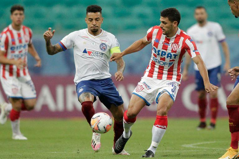 Unión sufrió una derrota inmerecida frente a Bahía por la Copa Sudamericana