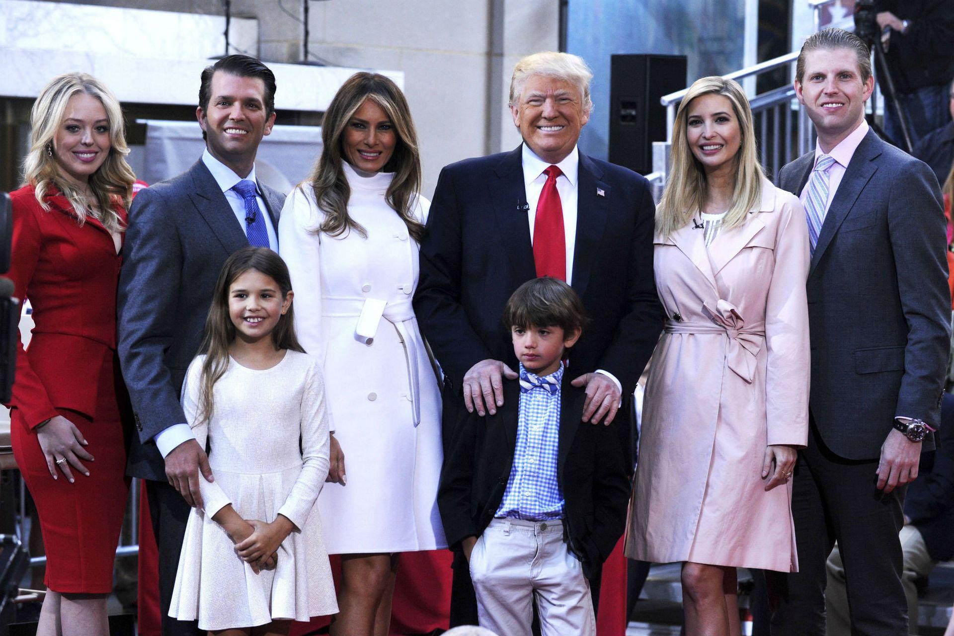 La familia Trump completa, en 2016