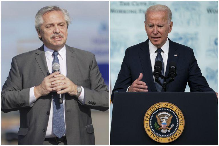 Alberto Fernández le agradeció a Biden la donación de 3,5 millones de vacunas