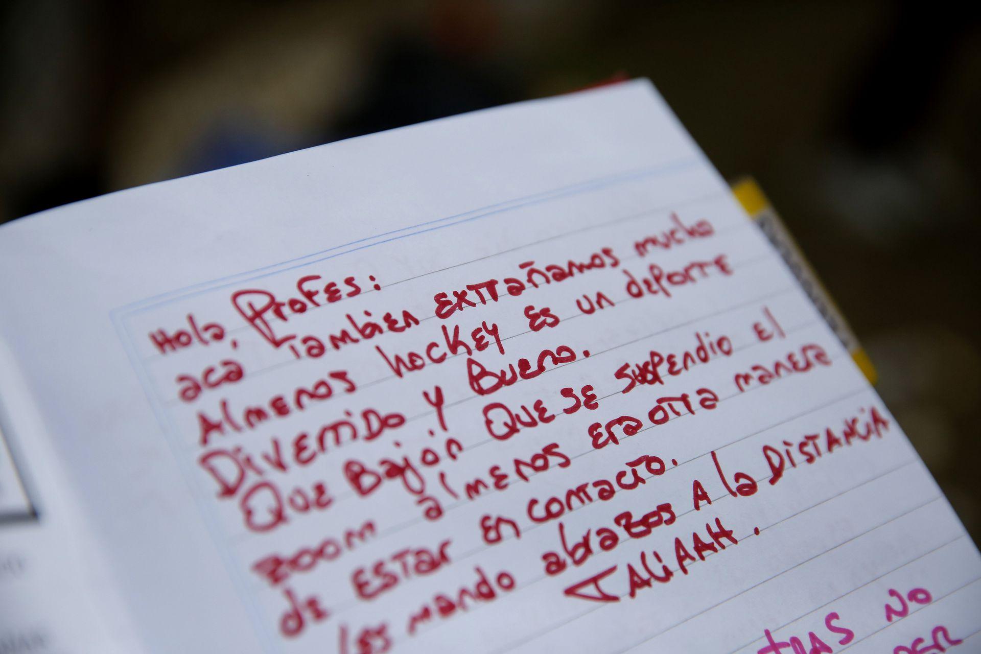 Durante la cuarentena, los entrenamientos dejaron de ser presenciales, y pasaron a la modalidad virtual, para muchas internas fue una gran tristeza, y en esta carta, lo expresó Tatiana