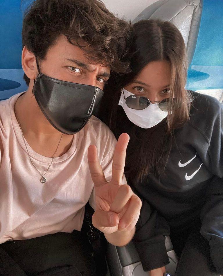 Emilia Mernes y Lizardo Ponce, de camino a Río de Janeiro. Crédito: Instagram