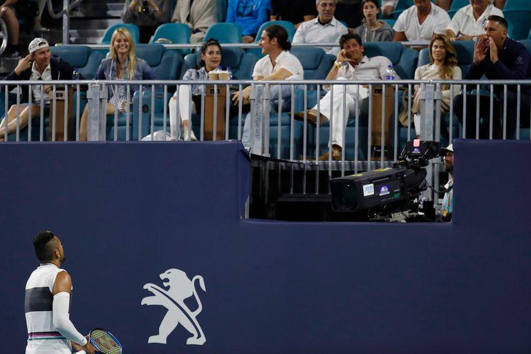Nick Kyrgios peleando con un espectador