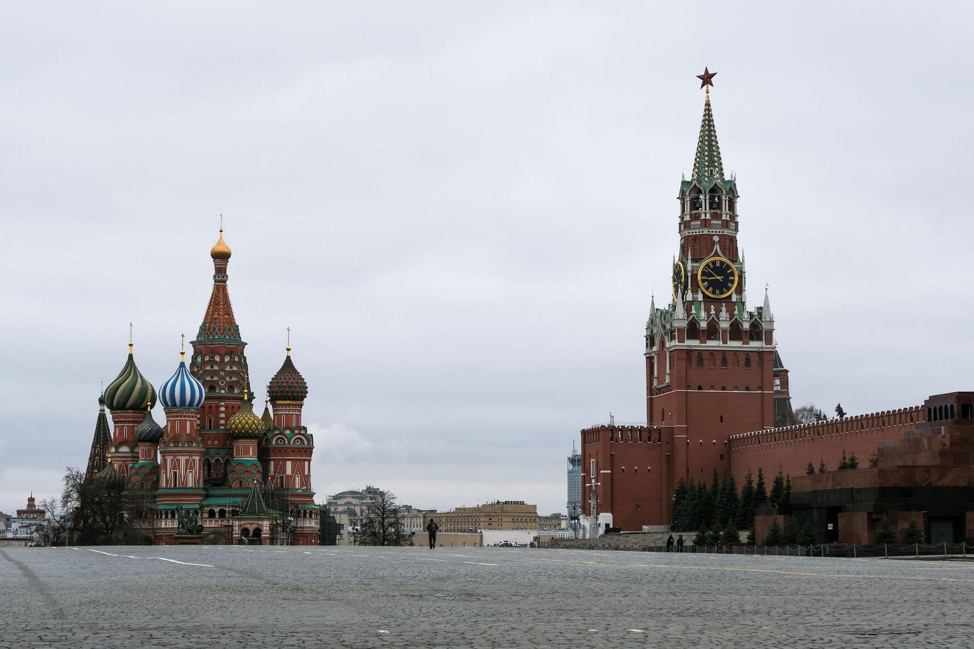 Vista de la Plaza Roja de Moscú, Rusia