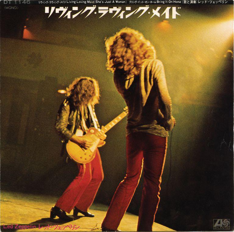 """Single japonés de """"Living Loving Maid"""" de Led Zeppelin"""