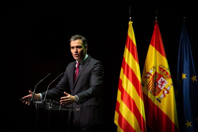 21-06-2021 El presidente del Gobierno, Pedro Sánchez, durante su conferencia en el Liceu de Barcelona. CATALUÑA ESPAÑA EUROPA BARCELONA POLÍTICA DAVID ZORRAKINO - EUROPA PRESS