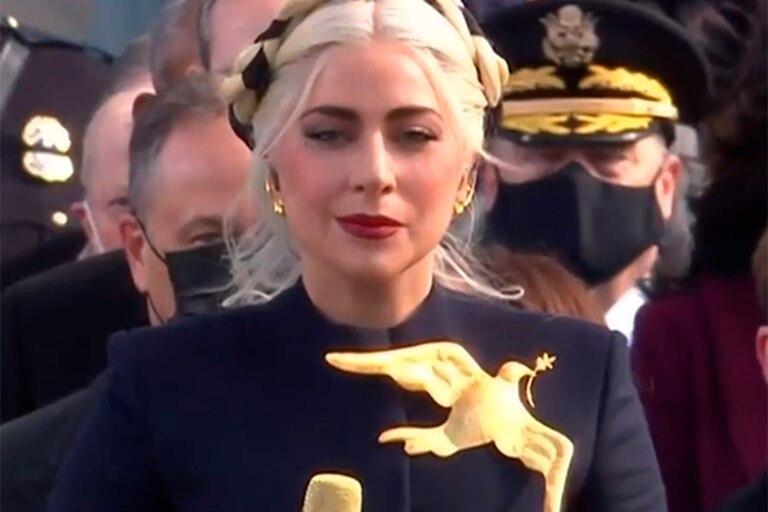 En la asunción de Joe Biden, Lady Gaga cantó el himno de los Estados Unidos