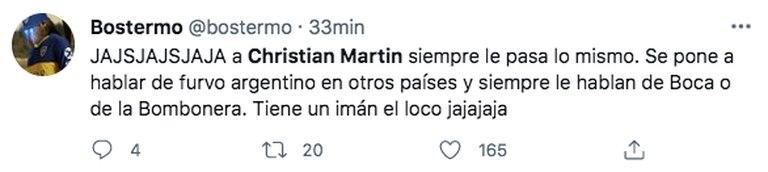 Los hinchas de Boca estallaron con el cruce de Christian Martin con el ultra del PSG