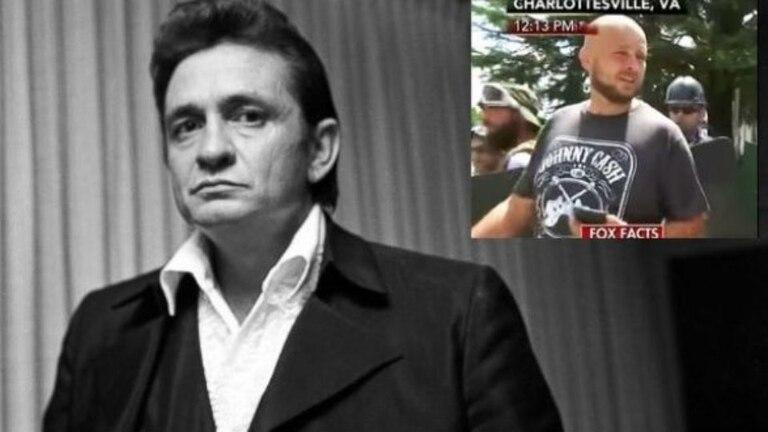 Los herederos de Johnny Cash contra manifestantes neonazis