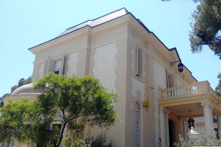 Vista actual de la mansión, ahora convertida en un restaurante
