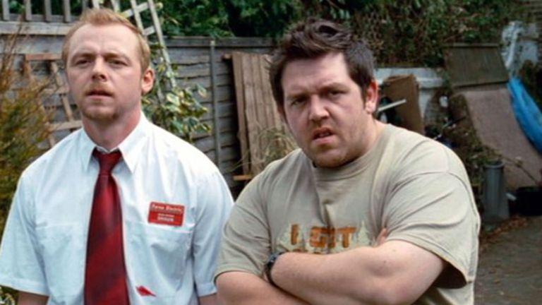 Simon Pegg y Nick Frost en Muertos de risa