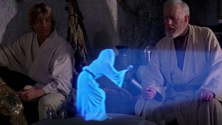 """¿Podrán los hologramas ser proyectados desde nuestros teléfonos, como en la película de """"La guerra de las galaxias""""?"""