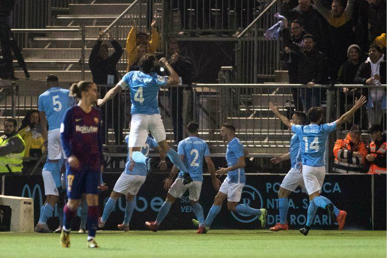 Con el gol de Josep Caballe Martin, Ibiza da el batacazo y derrota a Barcelona