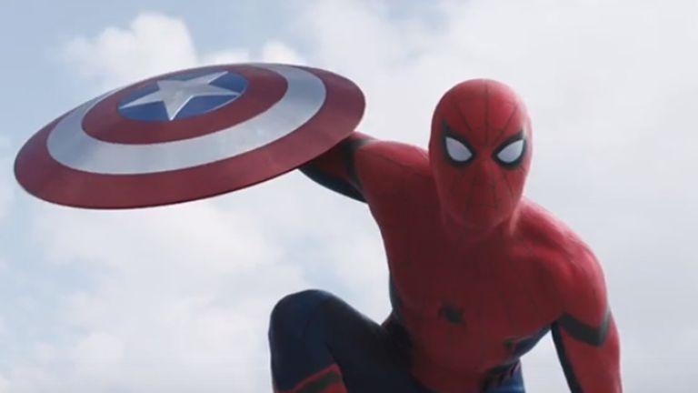 El joven y flamante Spiderman, propiedad de Sony, se sumó a la última producción de Marvel, Capitán América: Civil War