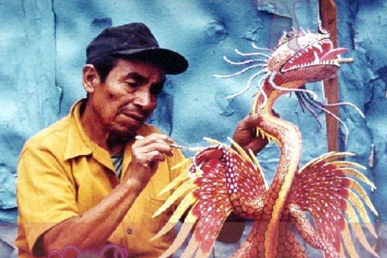 Linares López desarrolló su arte con los alebrijes