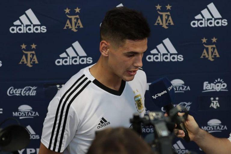 Martínez Quarta debutará en la selección mayor.