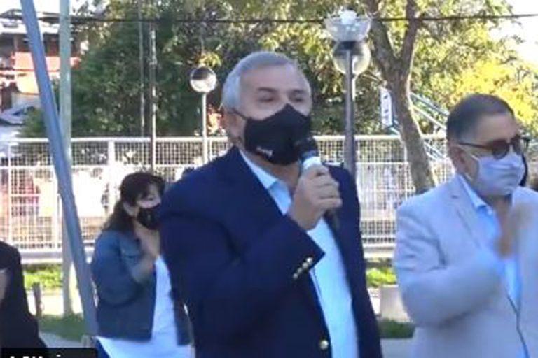 Jujuy: tenso cruce entre Gerardo Morales y un grupo de manifestantes