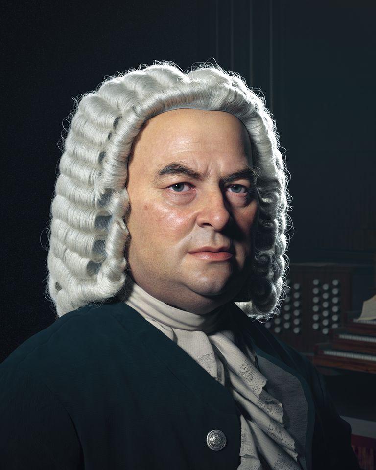 Retrato de Johann Sebastian Bach realizado por el artista iranía Hadi Karimi, un fantático de la música clásica