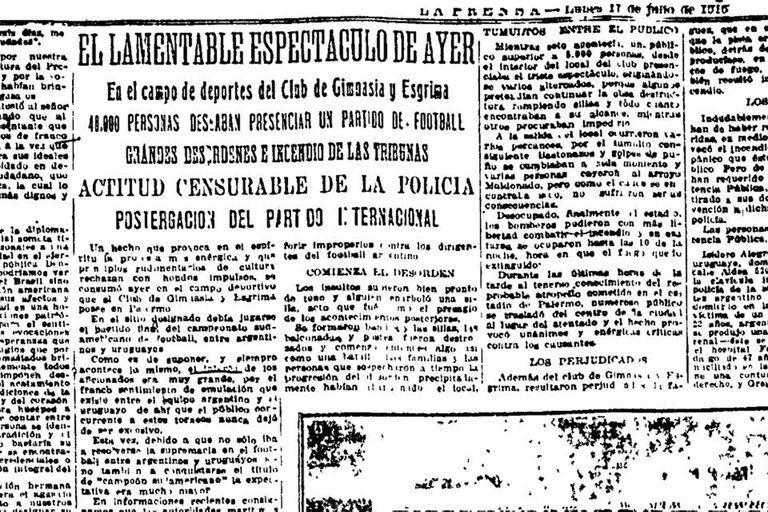 """La Prensa habló de """"lamentable espectáculo"""""""