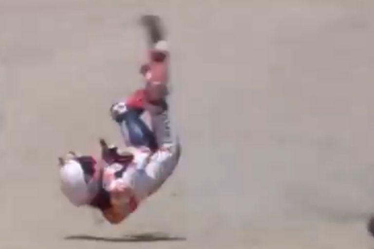 Moto GP: el impactante accidente de Marc Márquez que lo llevará al quirófano