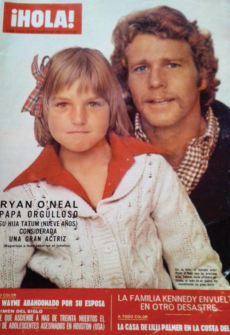 Padre e hija protagonizan la tapa de la revista ¡HOLA! de la edición de agosto de 1973.