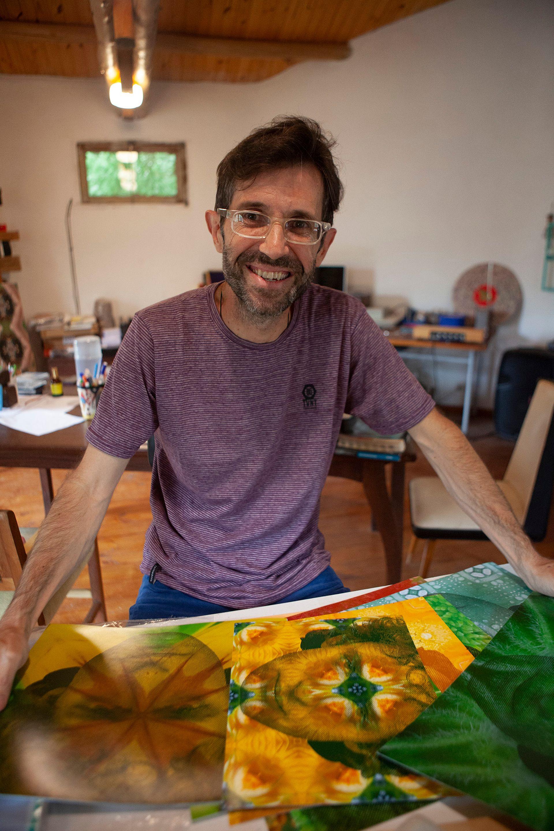 Álvaro Balangero, dueño de la librería.